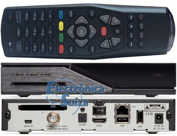 DREAMBOX DM525 HD COMBO 1X DVB-S2 / 1X DVB-C/T2 TUNER PVR READY FULL HD 1080P H.265 LINUX RECEIVER