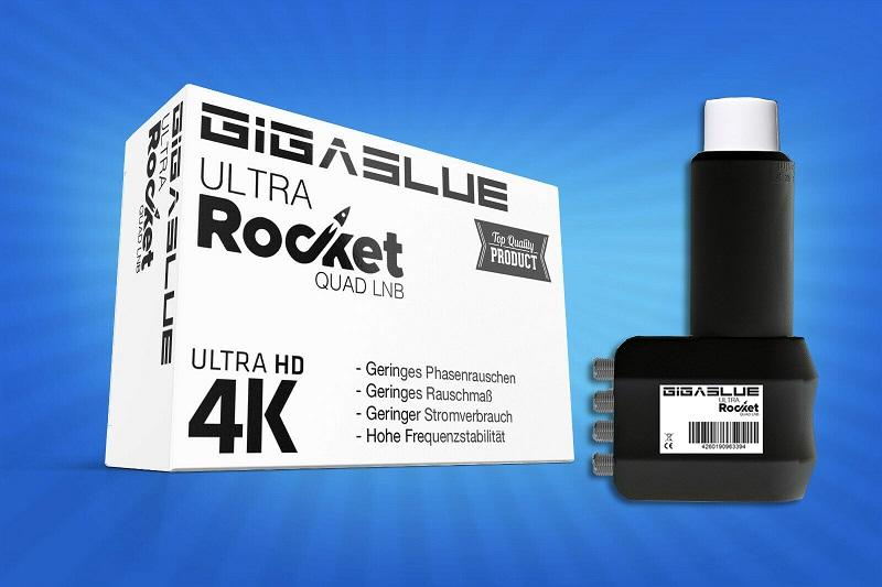 Gigablue Ultra Rocket Quad Multifeed LNB