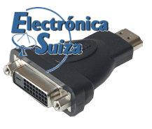 HA001-2 Adaptador HDMI macho a DVI hembra