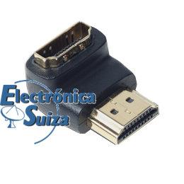HA0002-5 Adaptador HDMI Macho-HDMI Hembra - 90 grados