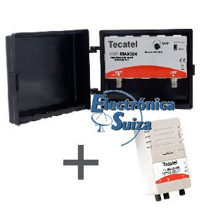KIT AMPLIFICADOR MASTIL 30dB TECATEL