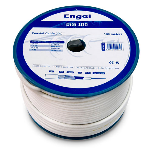 Cable coaxial 100M tipo vatc blanco