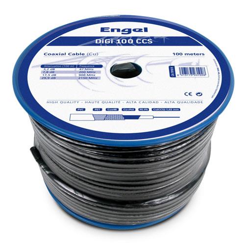 Cable coaxial 100M prof. digi-100ccs n