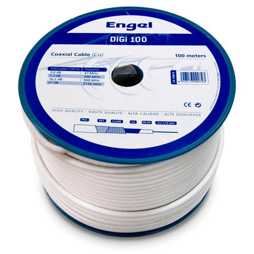 Cable coaxial 100M prof. digi-100 blanco