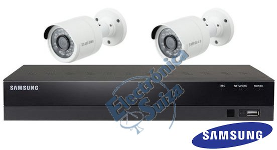 Kit CCTV Samsung 4 Canales 2 Camaras