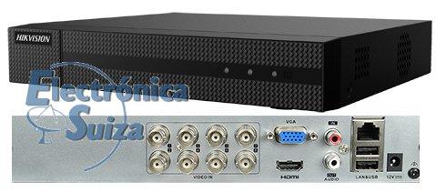 Grabador 5 en 1 HIKVISION 8 canales 4 Mpx.